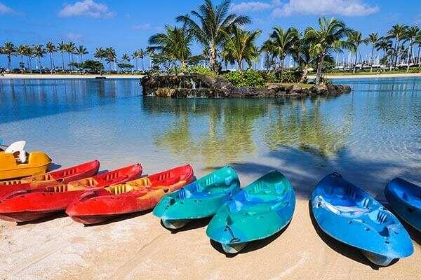 Honolulu, El Puerto Protegido de Hawai, Kayak