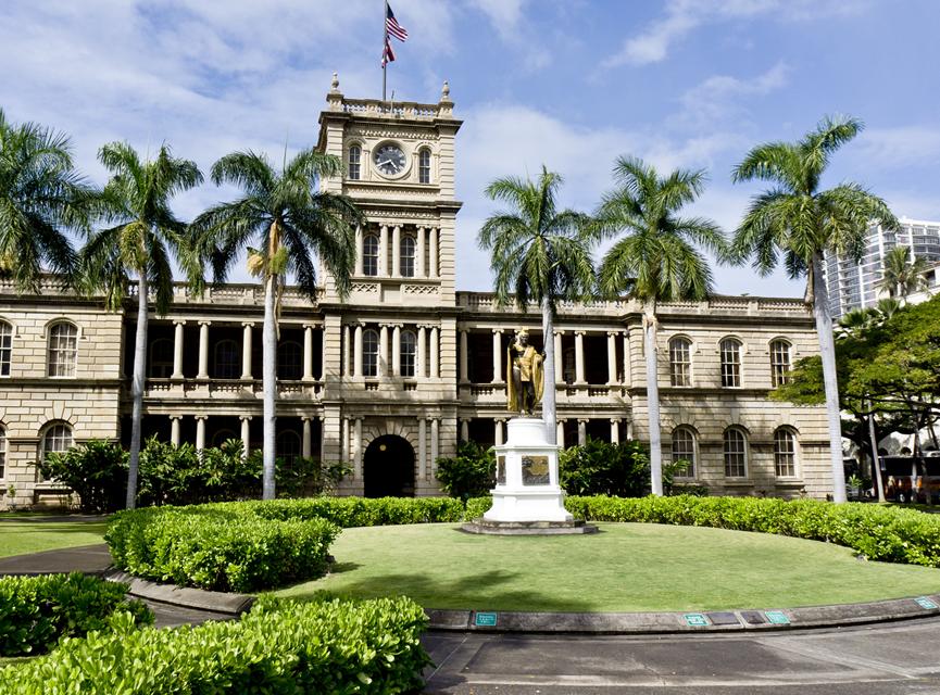 Honolulu, El Puerto Protegido de Hawai, Palacio 'Iolani
