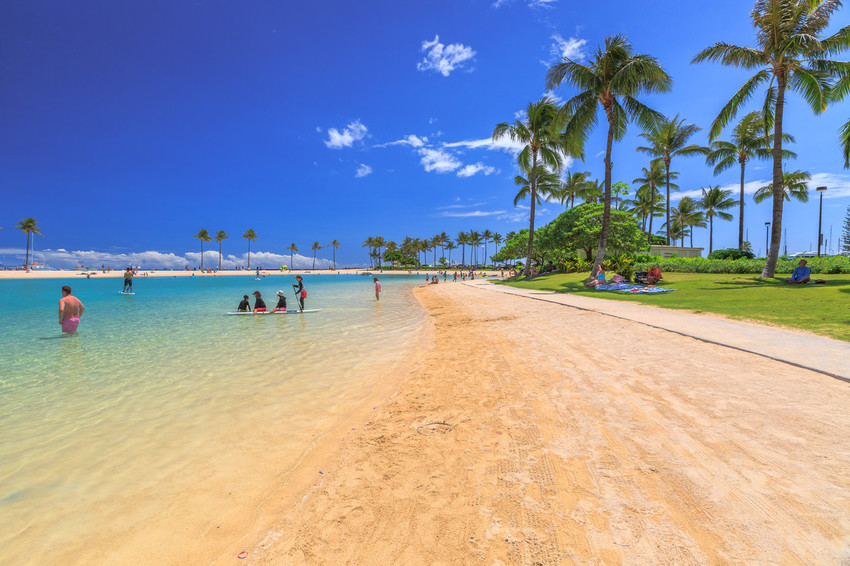 Honolulu, El Puerto Protegido de Hawai, Waikiki Beach
